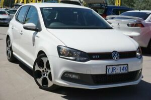 2014 Volkswagen Polo 6R MY14 GTI DSG White 7 Speed Sports Automatic Dual Clutch Hatchback Phillip Woden Valley Preview