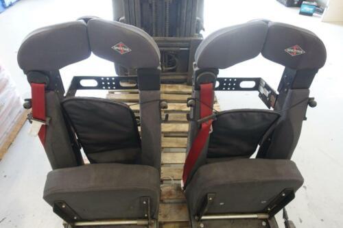 (2) Seats Inc 911 SCBA Fire Truck Seat, Seatbelts, Flip-up, Spartan