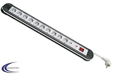 10 fach Steckdosenleiste mit Überspannungsschutz mit Schalter + 1,5 m Kabel
