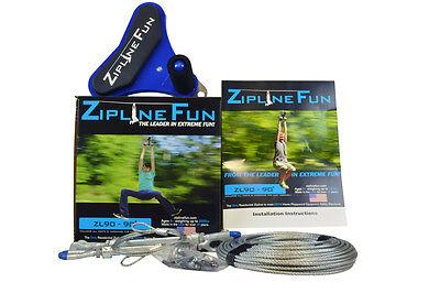 ZL90 ZIPLINE FUN ORIGINAL Ride Zip Line Adult Fun 90' Playground Playset 30-9031](Zipline Fun)