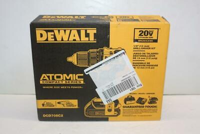 DEWALT DCD708C2 ATOMIC 20V MAX Brushless Compact 1/2in Drill