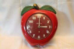 Vintage 1950's Seth Thomas Red Apple Electric Clock Works