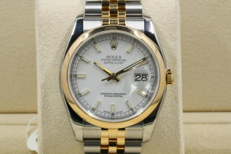 Rolex Datejust Model 116203 White Index Dial 2009 Model