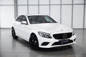 2019 Mercedes-Benz C-Class W205 809MY C300 9G-Tronic White 9 Speed Sports Automatic Sedan