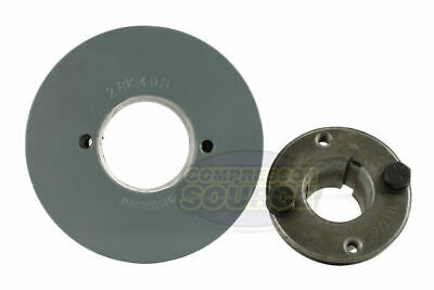 """Cast Iron 7.75/"""" 2 Groove Dual Belt B Section 5L Pulley 1/"""" Sheave Bushing"""