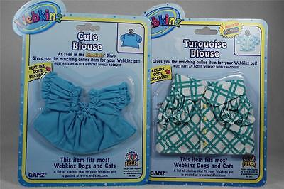 Webkinz Set of 2 'Cute Blue Blouse & Turquois Blouse' All NEW in Packaging!
