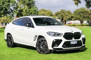 2020 BMW X6 M F96 Competition Coupe M Steptronic M xDrive Mineral White 8 Speed Sports Automatic