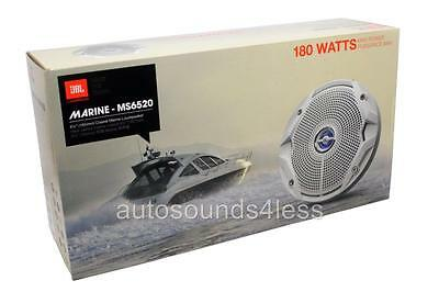 "New JBL MS6520 180 W MS Series 6.5"" 2-Way Coaxial Marine Audio Speakers 6-1/2"""