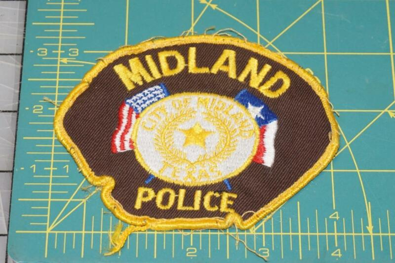 Vintage Midland Texas POLICE PATCH (994)