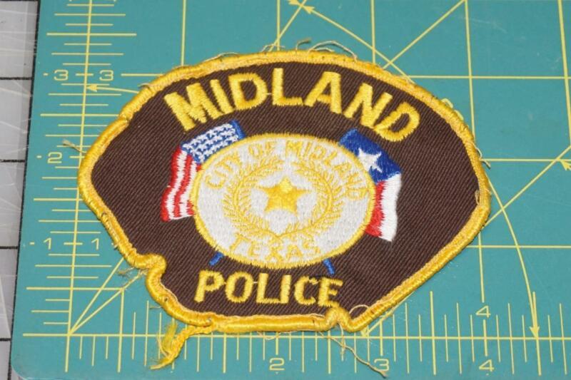 Vintage Midland Texas POLICE PATCH (994)