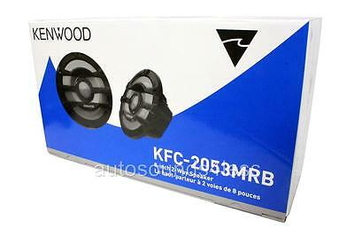 "NEW Kenwood KFC-2053MRB 600 Watts 8"" 2-Way Black Marine Boat Audio Speakers"