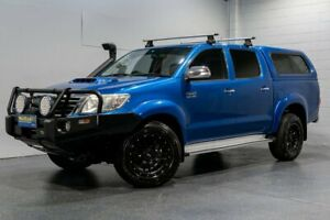 2013 Toyota Hilux KUN26R MY12 SR5 (4x4) Blue 4 Speed Automatic Dual Cab Pick-up