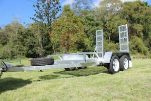 Galvanised Tilting 3500kg Excavator Bobcat Trailer Molendinar Gold Coast City Preview