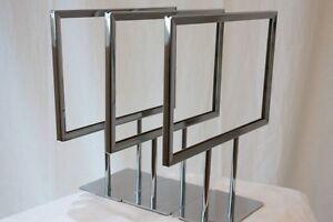 3 new metal promotional sign frames retail sale signs - Metal Sign Frames