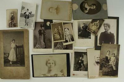 Vintage Cabinet Photo Lot 18 Womens Fashions Civil War 1800s Pottsville PA NY VA