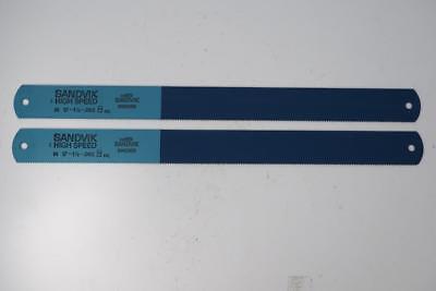 2 Nos Sandvik Hss Power Hacksaw Blades. 17 X 1-12 X .062 10tpi. Sweden