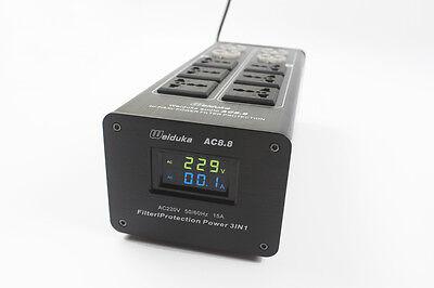 Weiduka New Upgrade AC8.8 10 Way Mains Audio Power Filter Purifier 3 in 1