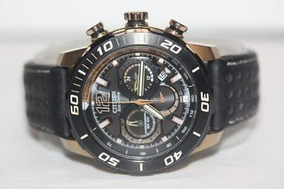 Citizen Eco-Drive Primo Stringray 620 Chronograph Watch - Pale Gold/Black -