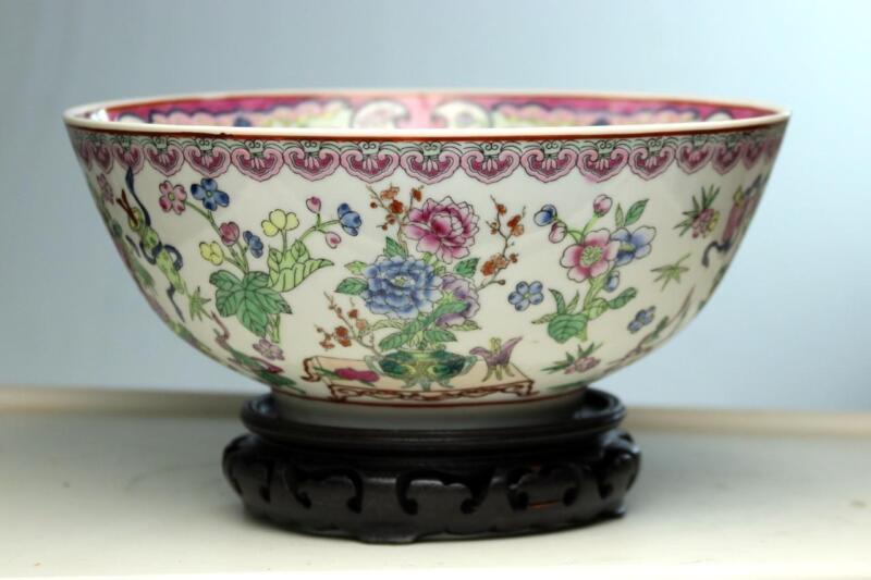 Chinese Porcelain Bowl  Republic Era  Signed Qainlong