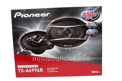 "New Pioneer TS-A6996R 650 Watts 6"" x 9"" 5-Way Coaxial Car Audio Speakers 6x9"""