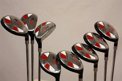 SENIOR 55+ years NEW MEN ALL RESCUE HYBRIDS 3 4 5 6 7 8 9 PW GOLF CLUBS FULL SET