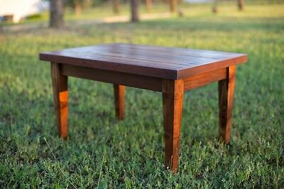 Small Coffee Table with Square Tapered Legs and Reclaimed Wood Top