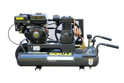 SCHULZ GAS AIR COMPRESSOR - 5.5HP 140PSI 8GAL TWIN TANK-PORTABLE MSL-15MAX