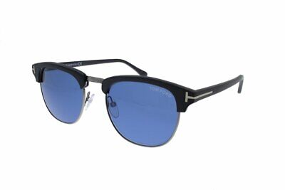 TOM FORD HENRY FT 0248 02X 51 Matte Black/Blue Mirrored