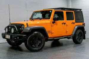 2012 Jeep Wrangler Unlimited JK MY11 Sport (4x4) Orange 5 Speed Automatic Softtop Woodridge Logan Area Preview