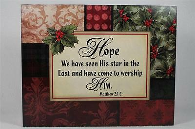 Word Block 'Hope,we Have Seen His Star In The East....Matthew 1-2 #18716 NEW (Word Blocks)