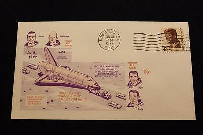 SPACE SHUTTLE COVER 1977 MACHINE CANCEL OVERLAND TRANSPORT TO EDWARDS (2134)
