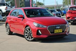 2018 Hyundai i30 PD MY18 SR D-CT Red 7 Speed Sports Automatic Dual Clutch Hatchback McGraths Hill Hawkesbury Area Preview