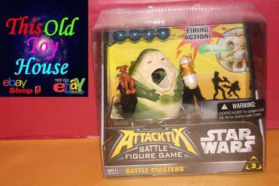 STAR WARS ATTACKTIX x2 JABBA THE HUTT NIP 2005