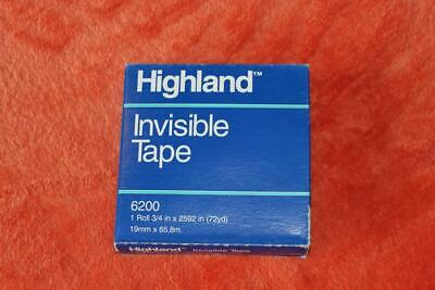 1 Box Highland 6200 Invisible Tape 34 X 2592 3 Core - New