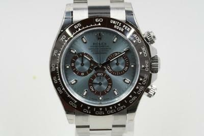 Rolex Daytona 116506 Platinum Watch Ice Blue Index Dial -UNUSED-