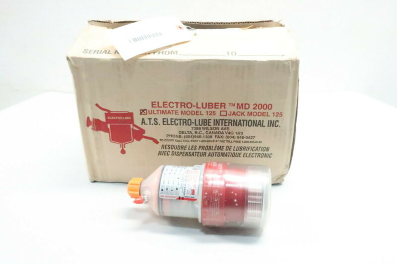 Box Of 4 Electro-lube ULTIMATE MODEL 125 Electro-luber Md 2000 Lubricator 1/2in