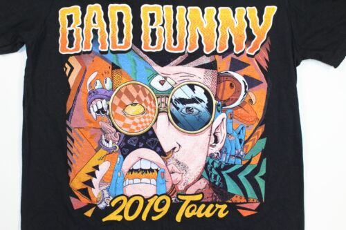 Bad Bunny 2019 Concert Band Tour Shirt US Puerto Rico Latin Trap Reggaeton - $19.99
