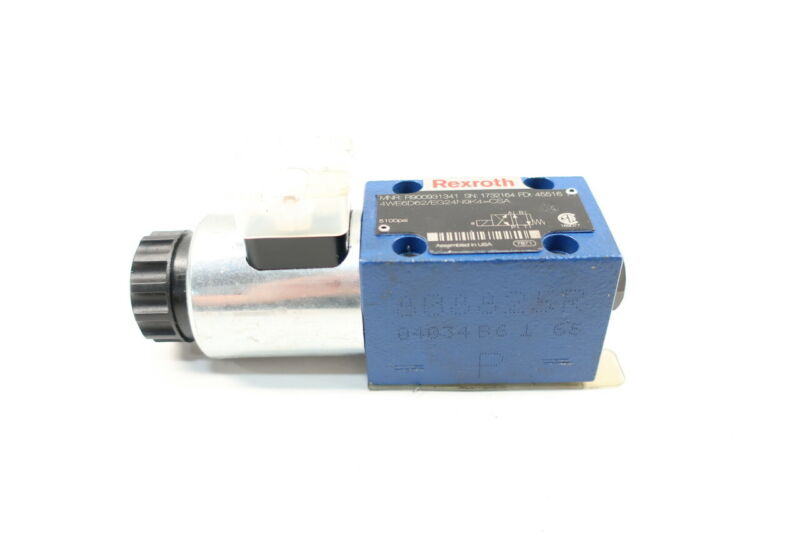 Rexroth R900931341 Hydraulic Directional Control Valve 5100psi 24v-dc