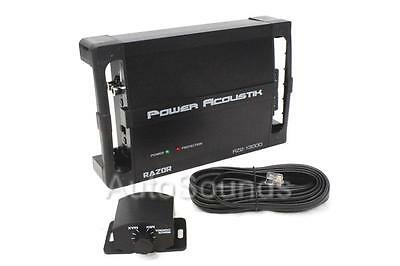 Power Acoustik RZ2-1300D 1300 Watt 2-Channel Class D Car Audio Amplifier New