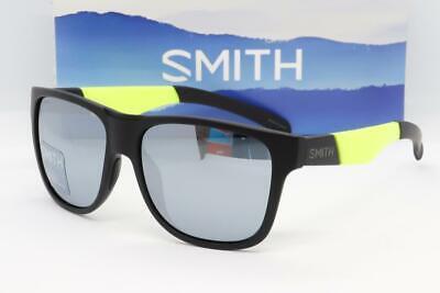 NEW SMITH LOWDOWN XL CHROMAPOP SUNGLASSES Black/Acid frame/Platinum Mirror lens Silver Frame Platinum Mirror Lens