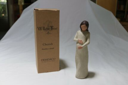 Willow Tree Wooden Ornament - 'Cherish'