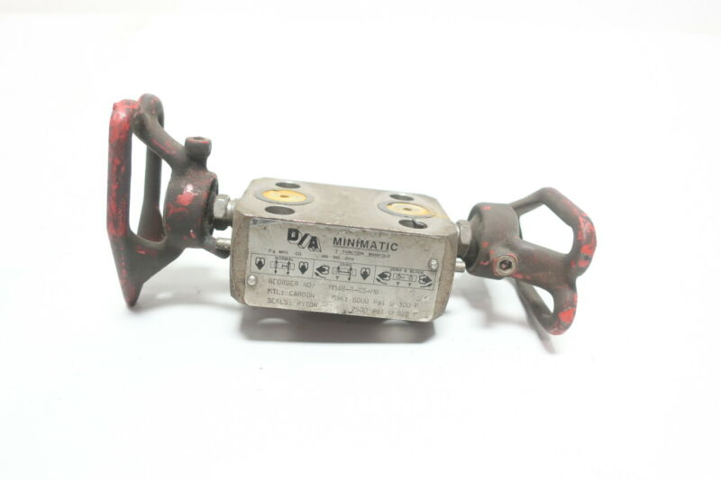 D/a Minimatic MM4B-R-CS-MB Valve Manifold 1/2in Npt 6000psi