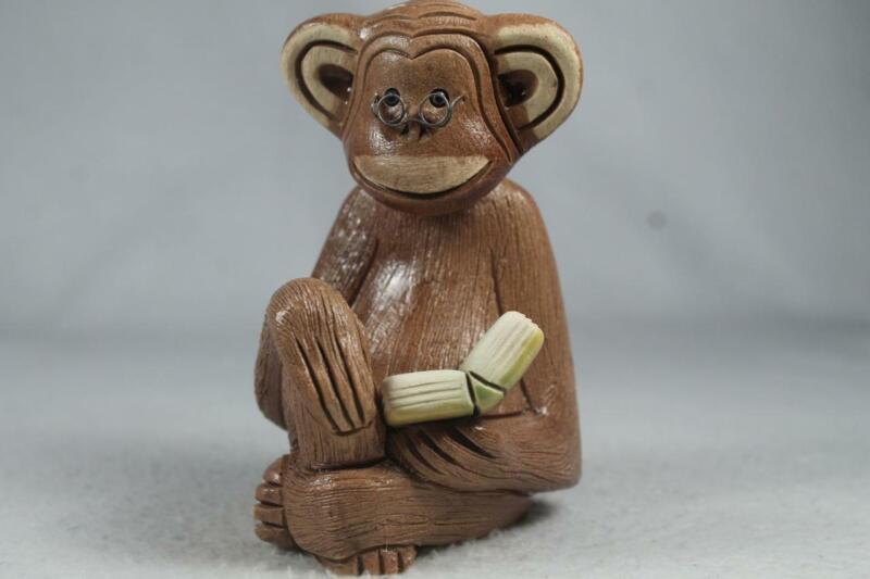 Rinconada Classic #244 OLD Monkey With Book RARE Retired!