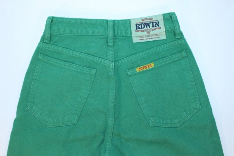 VTG Mens Deadstock Edwin Green Denim Jeans 80s 90s Made in Japan