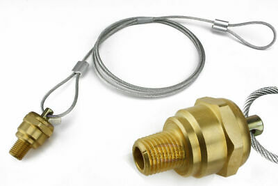 14 Air Compressor Tank Moisture Pull Cable Drain Valve Brass Quality Usa Made