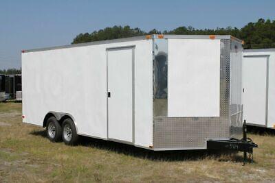 New 8.5 X 16 8.5x16 Enclosed Cargo Car Hauler Trailer - V-nose