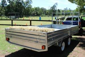 Ozzi 14x7 Flat Top Galvanised Trailer Carry Hay, Pallets, Produce Molendinar Gold Coast City Preview
