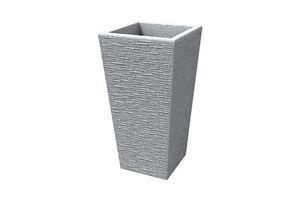 Vaso quadrato moderno resina alto 53cm rustico interno for Vaso da interno moderno