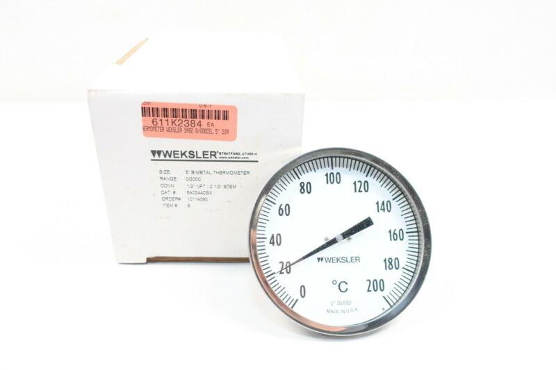Weksler 5A0244CSX Bimetal Thermometer 0-200c