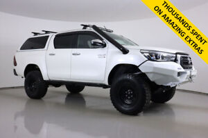 2018 Toyota Hilux GUN126R MY19 SR5+ (4x4) White 6 Speed Manual Double Cab Pick Up